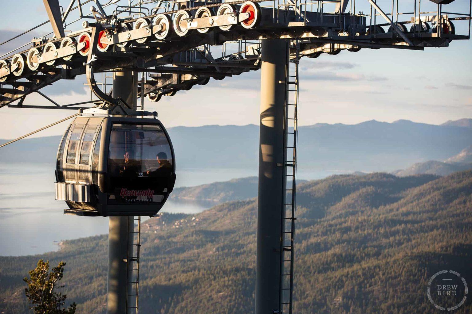 Gondola at Heavenly Ski Resort in Lake Tahoe California. San Francisco commercial photographer Drew Bird.