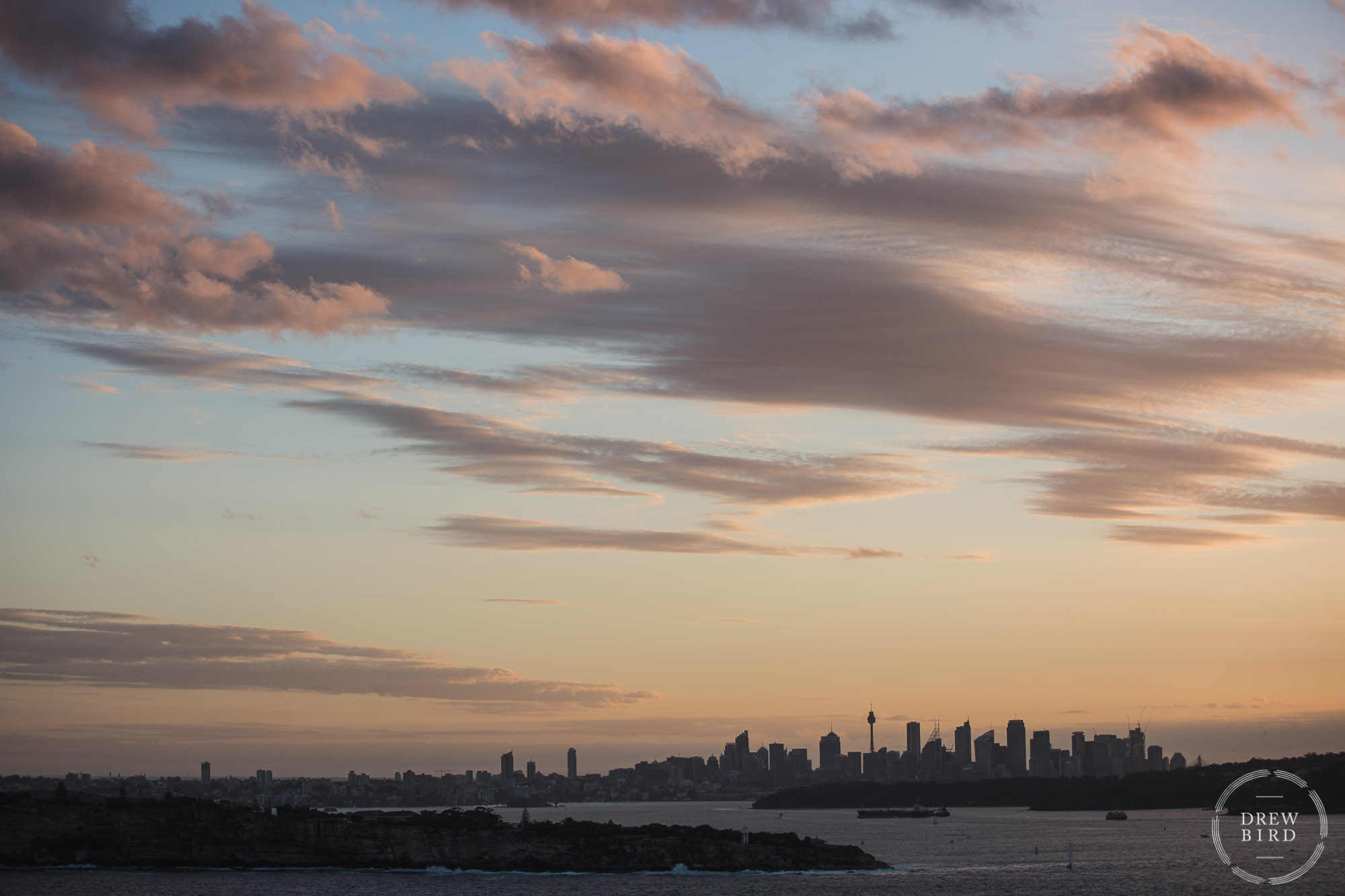 Sydney Australia city skyline at sunset. Corporate photojournalism and lifestyle photography for Adobe by San Francisco photographer Drew Bird